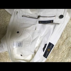 """LUCKY BRAND size 6/28 white jeans skirt-length 17"""""""